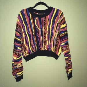 NWT - Retro Cropped Sweater